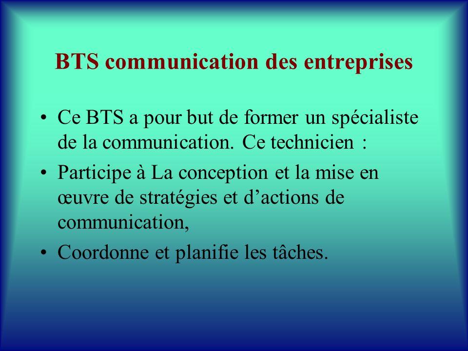 BTS communication des entreprises