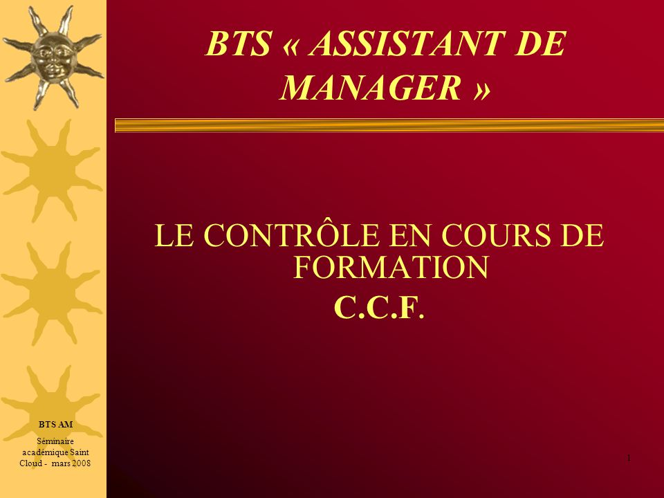 BTS « ASSISTANT DE MANAGER »