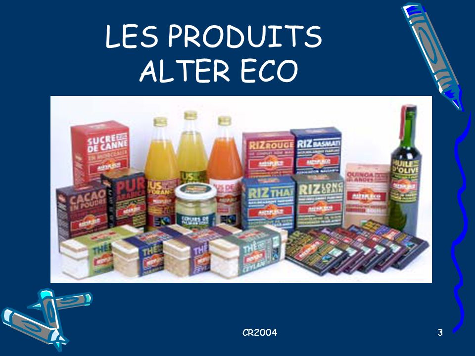 LES PRODUITS ALTER ECO CR2004