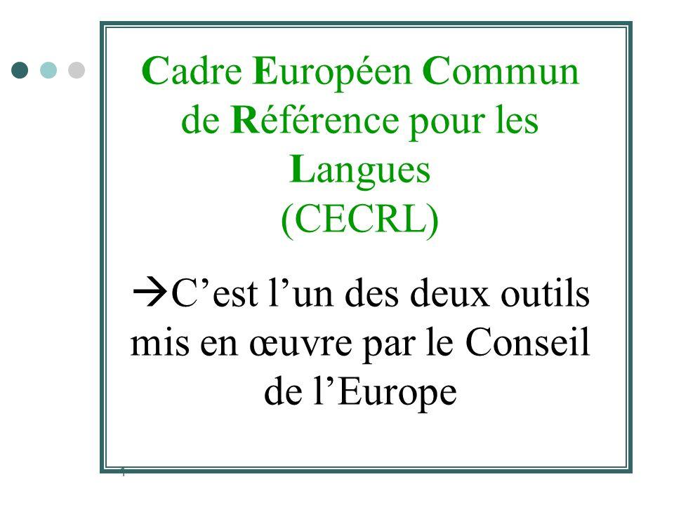 Cadre Européen Commun de Référence pour les Langues (CECRL)