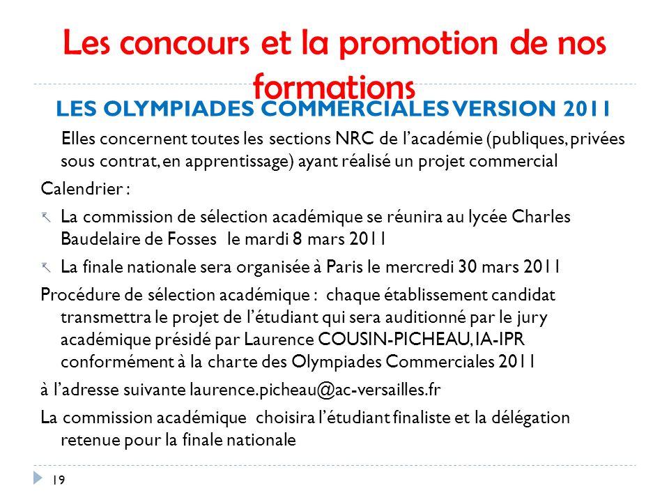 Les concours et la promotion de nos formations