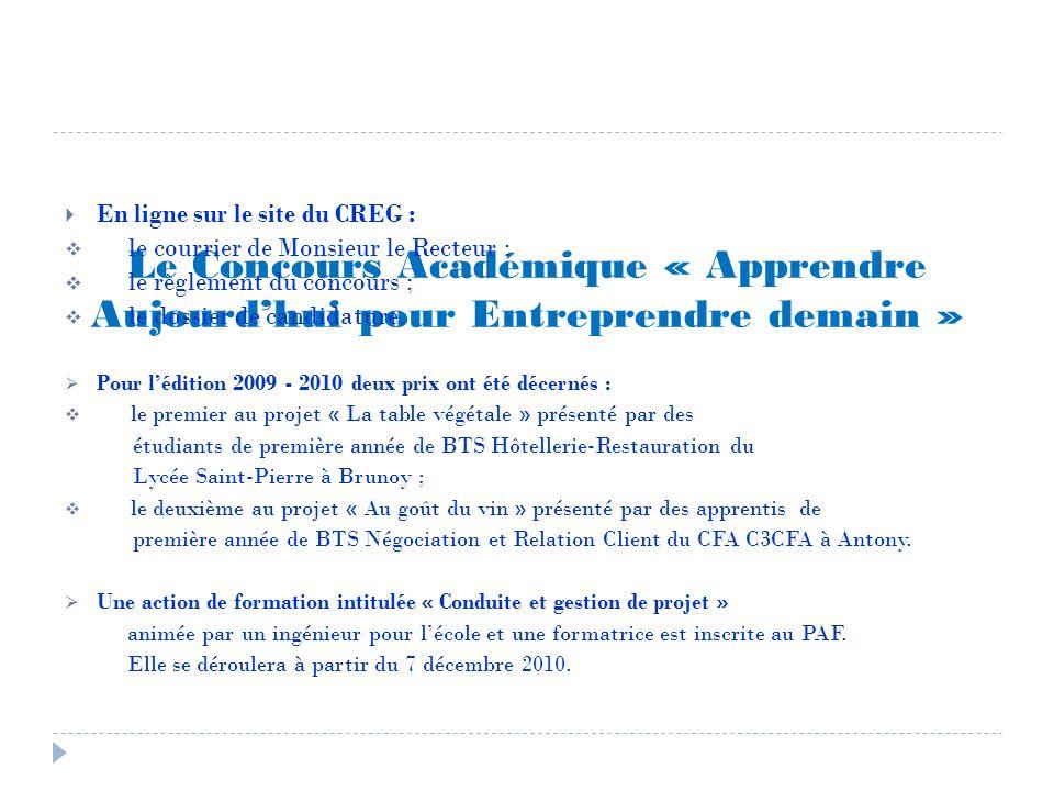 Le Concours Académique « Apprendre Aujourd'hui pour Entreprendre demain »