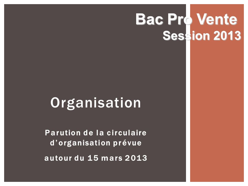 Bac Pro VenteSession 2013.