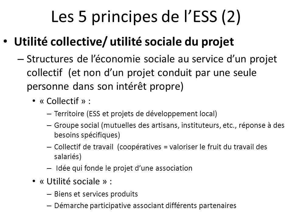 Les 5 principes de l'ESS (2)