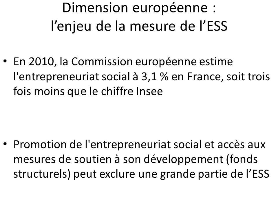 Dimension européenne : l'enjeu de la mesure de l'ESS