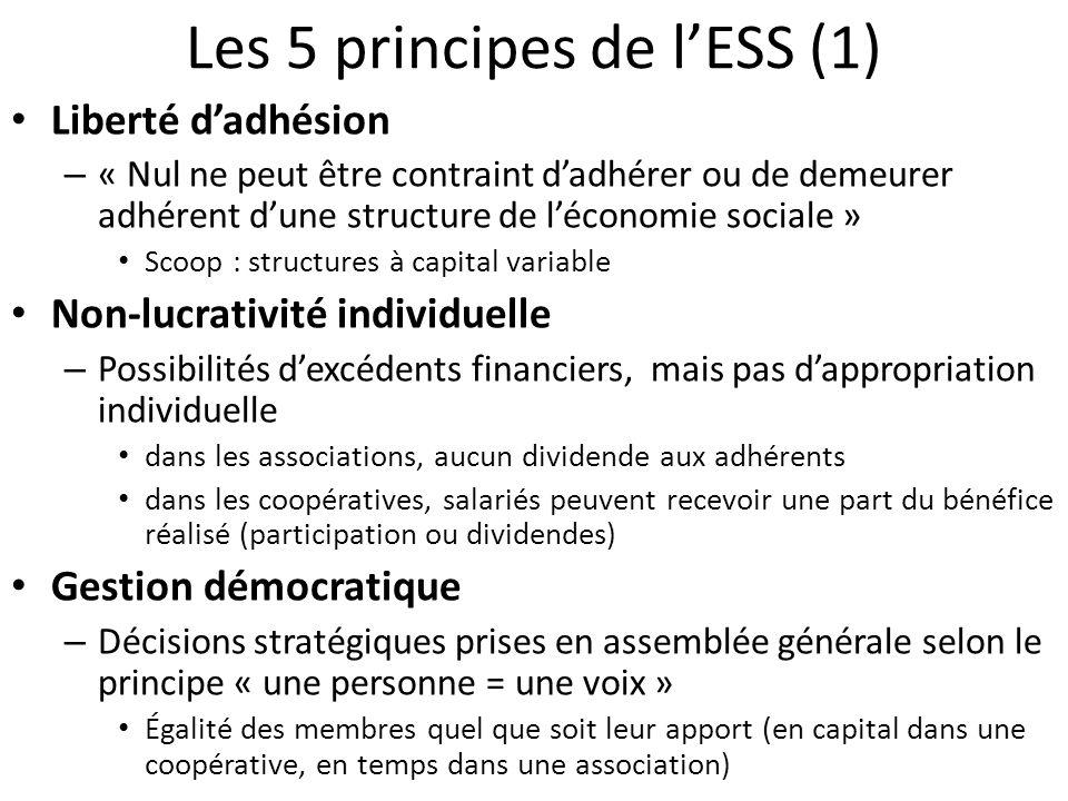 Les 5 principes de l'ESS (1)