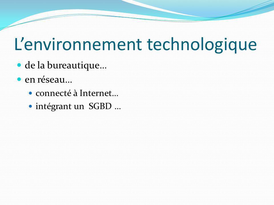 L'environnement technologique