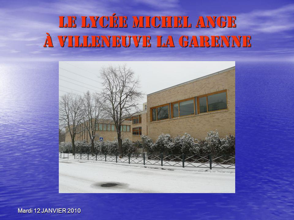Le Lycée Michel Ange à Villeneuve la garenne