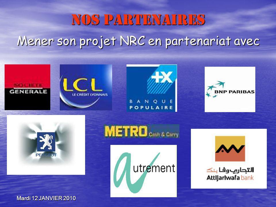 NOS PARTENAIRES Mener son projet NRC en partenariat avec