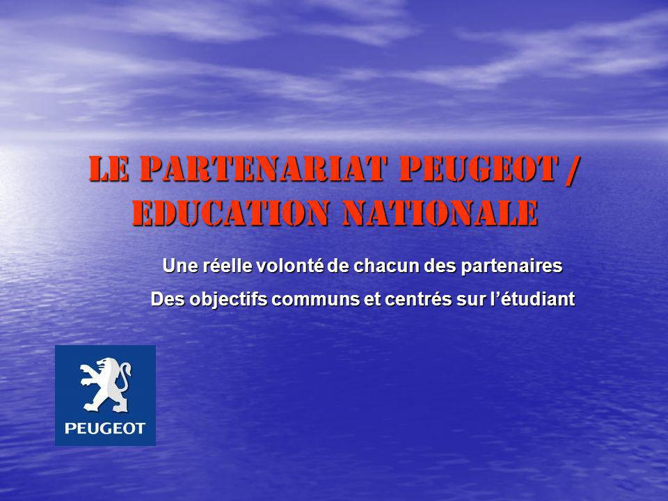 Le Partenariat Peugeot / Education Nationale