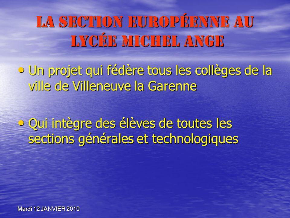 La section européenne au lycée Michel Ange