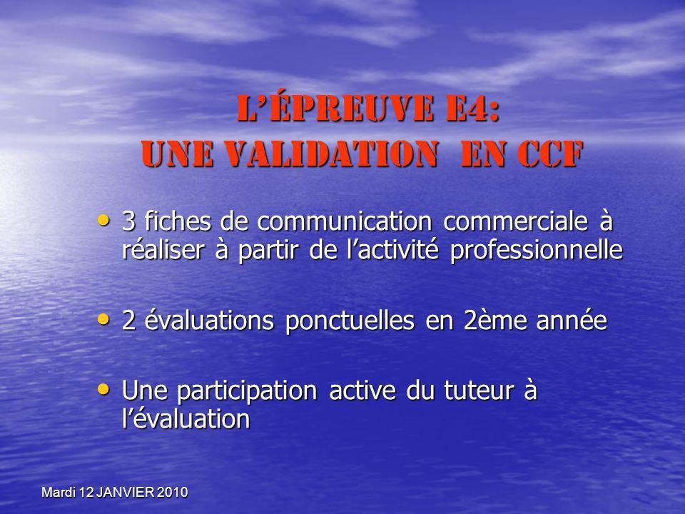 L'Épreuve E4: Une validation en CCF