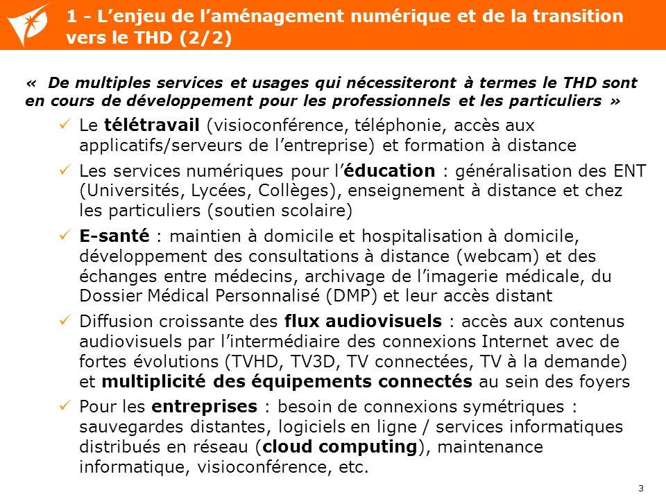 1 - L'enjeu de l'aménagement numérique et de la transition vers le THD (2/2)