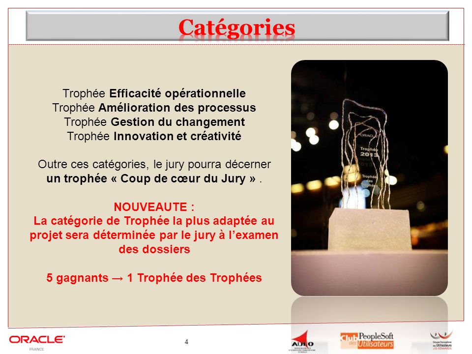 5 gagnants → 1 Trophée des Trophées