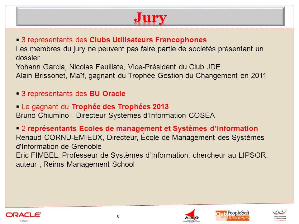 Jury 3 représentants des Clubs Utilisateurs Francophones