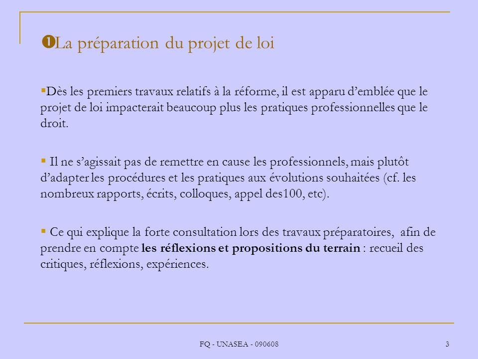 La préparation du projet de loi