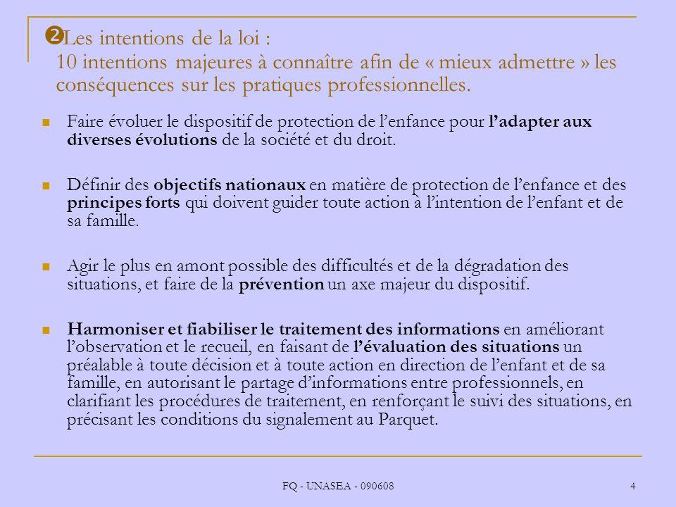 Les intentions de la loi : 10 intentions majeures à connaître afin de « mieux admettre » les conséquences sur les pratiques professionnelles.