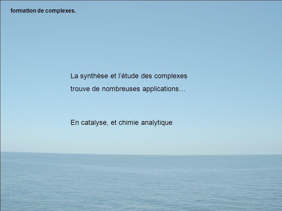 La synthèse et l'étude des complexes