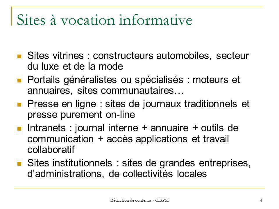 Sites à vocation informative