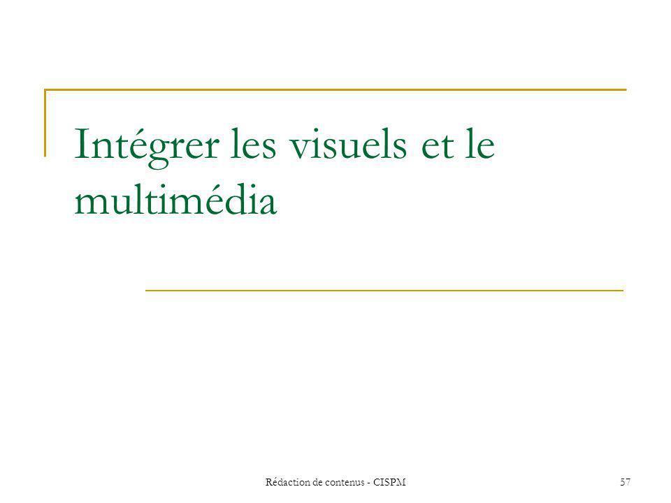 Intégrer les visuels et le multimédia