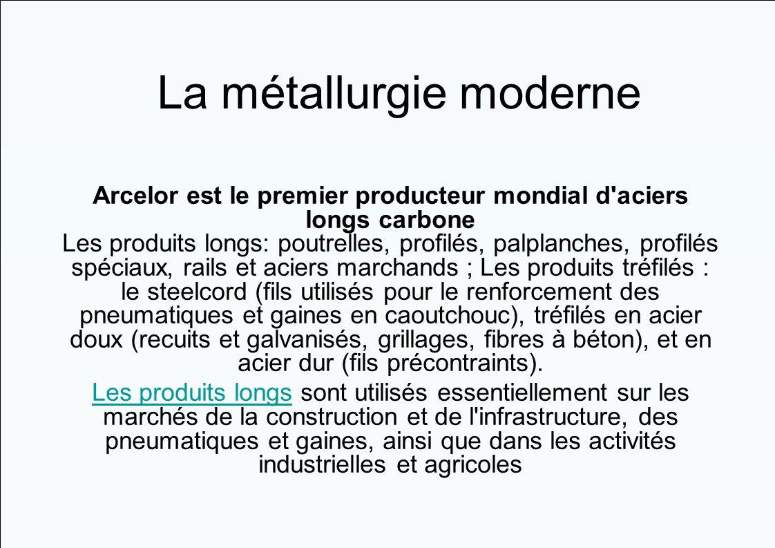 La métallurgie moderne