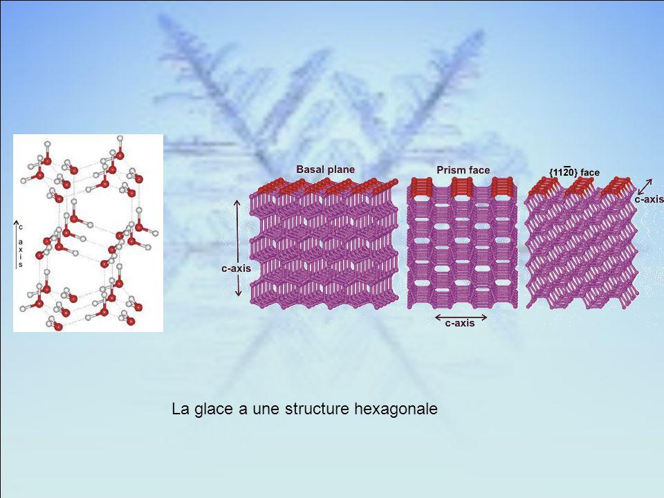 La glace a une structure hexagonale