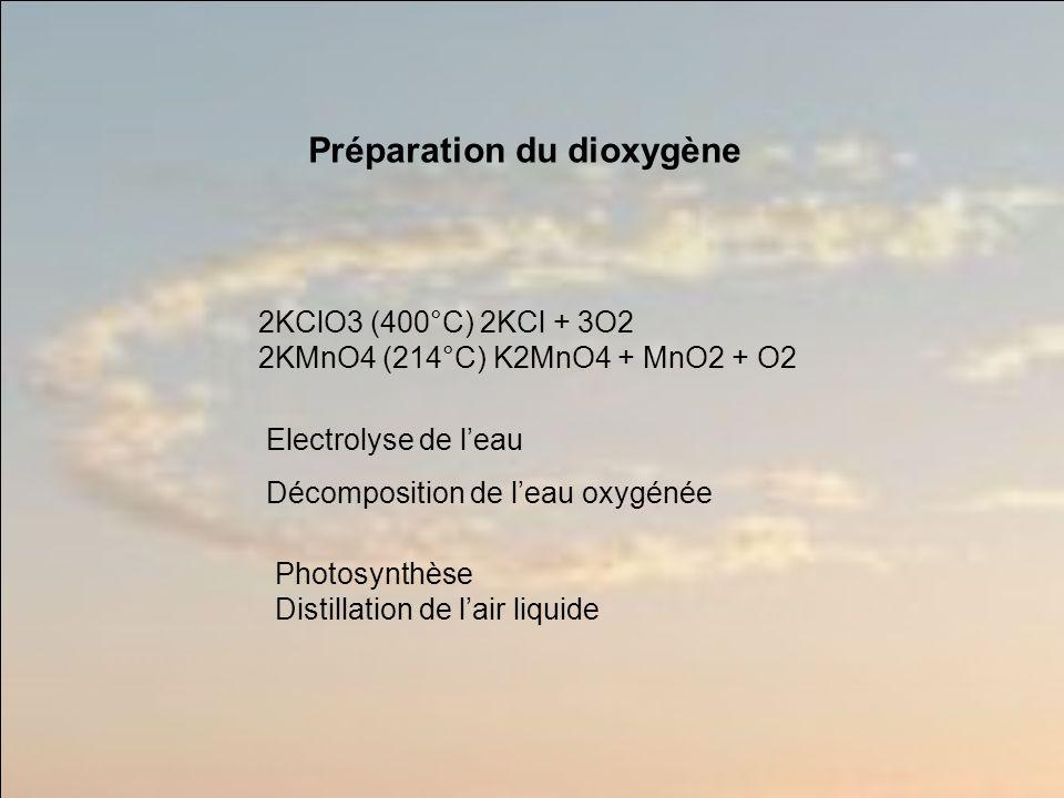 Préparation du dioxygène
