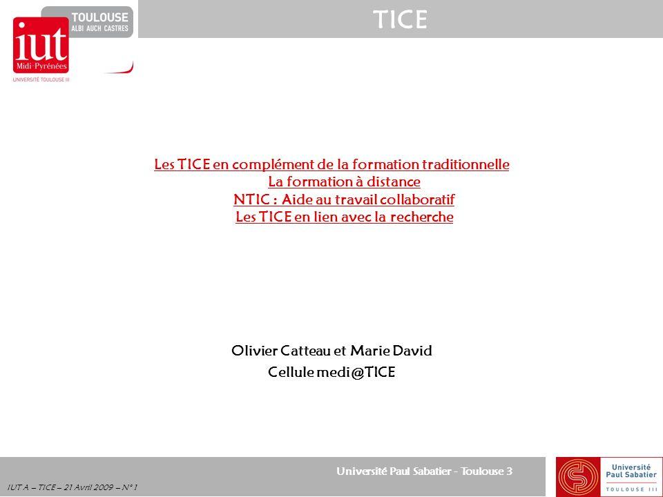 Olivier Catteau et Marie David Cellule medi@TICE