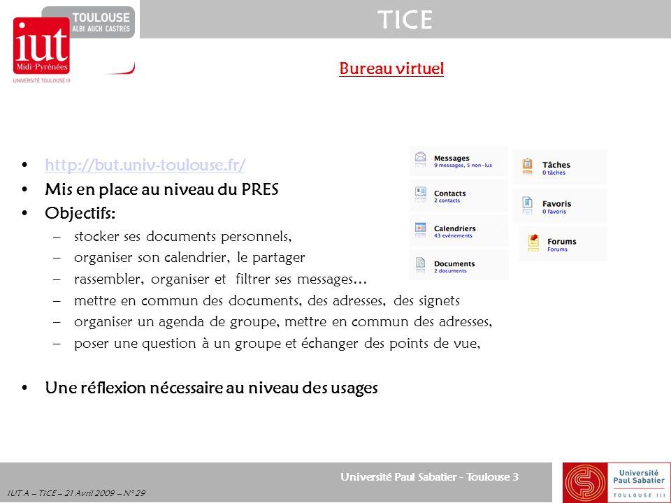 Mis en place au niveau du PRES Objectifs: