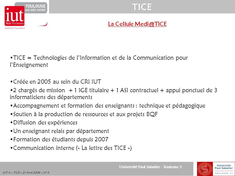 La Cellule Medi@TICE TICE = Technologies de l'Information et de la Communication pour l'Enseignement.