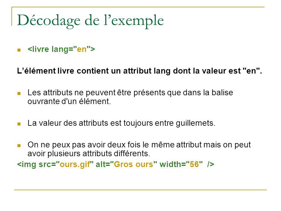 Décodage de l'exemple <livre lang= en >