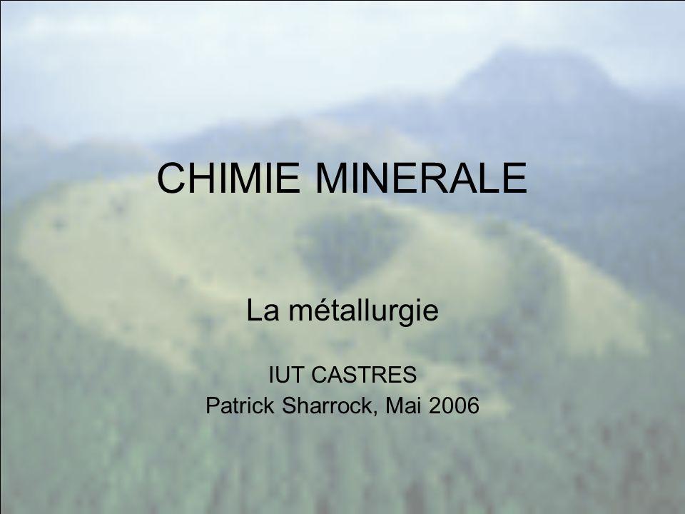 La métallurgie IUT CASTRES Patrick Sharrock, Mai 2006