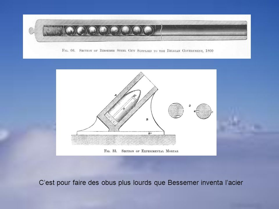 C'est pour faire des obus plus lourds que Bessemer inventa l'acier