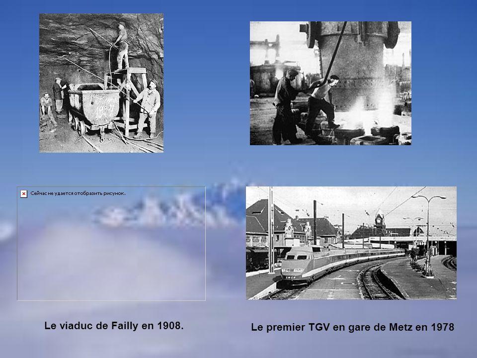 Le premier TGV en gare de Metz en 1978