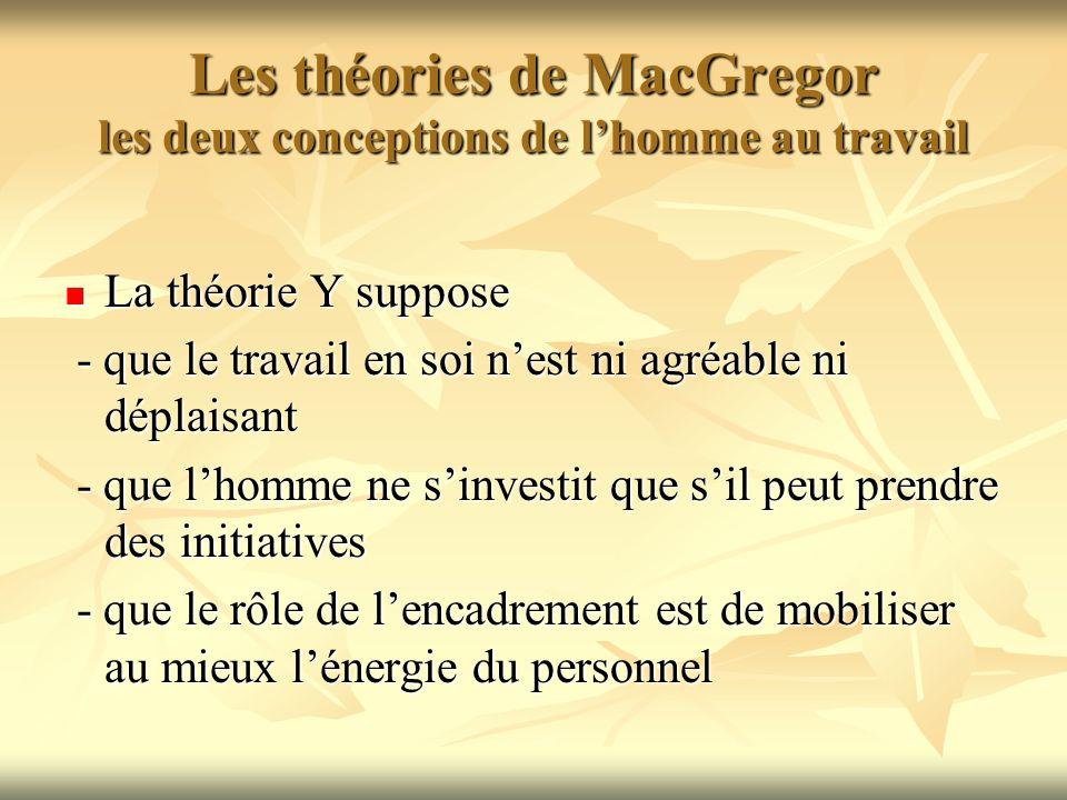 Les théories de MacGregor les deux conceptions de l'homme au travail