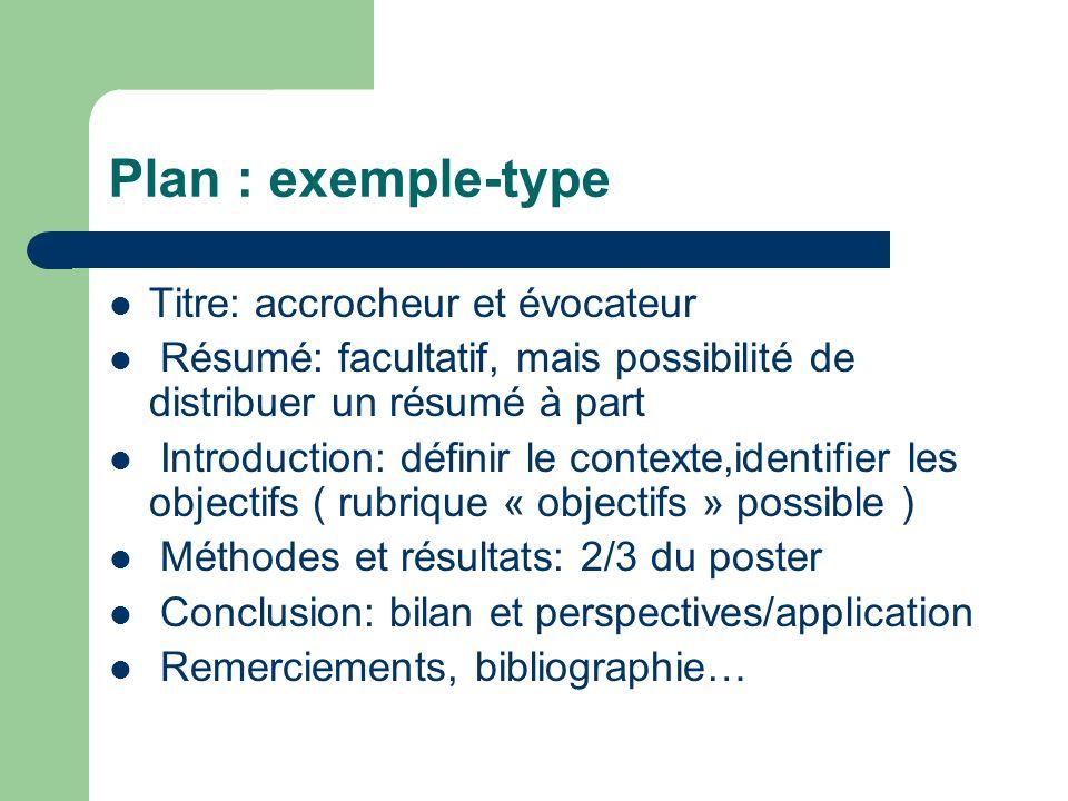 Plan : exemple-type Titre: accrocheur et évocateur