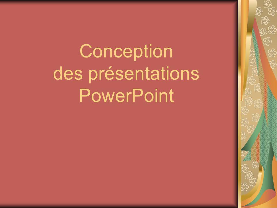 Conception des présentations PowerPoint