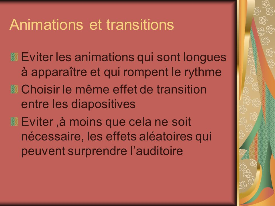Animations et transitions