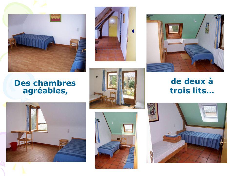 de deux à trois lits… Des chambres agréables,