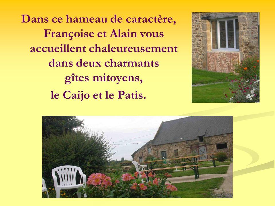 Dans ce hameau de caractère, Françoise et Alain vous accueillent chaleureusement dans deux charmants gîtes mitoyens,
