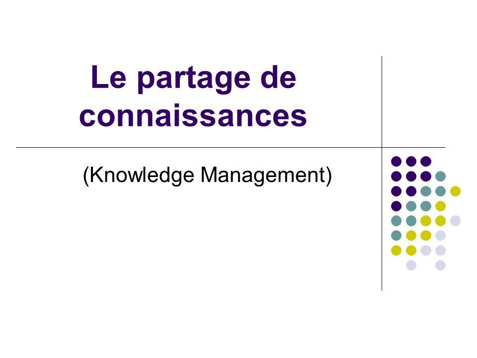 Le partage de connaissances