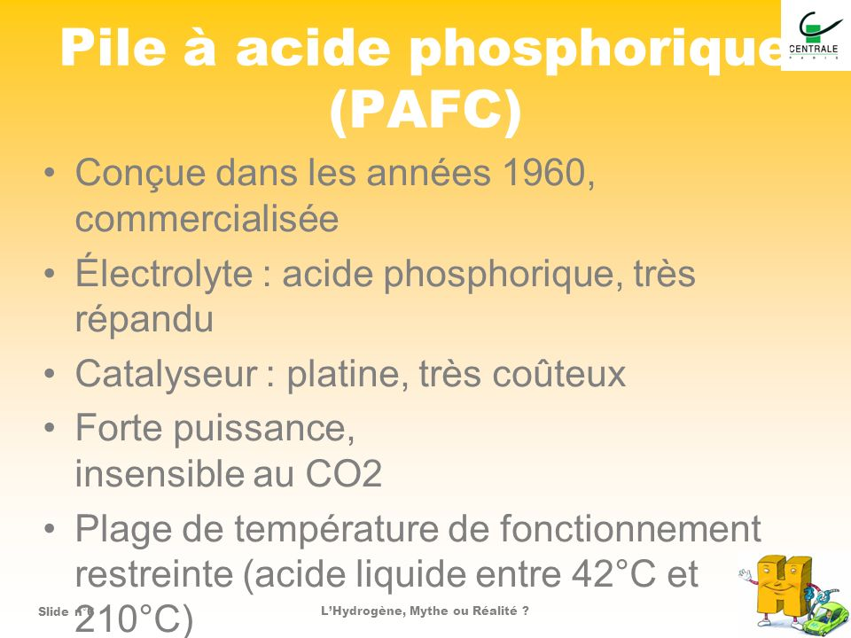 Pile à acide phosphorique (PAFC)