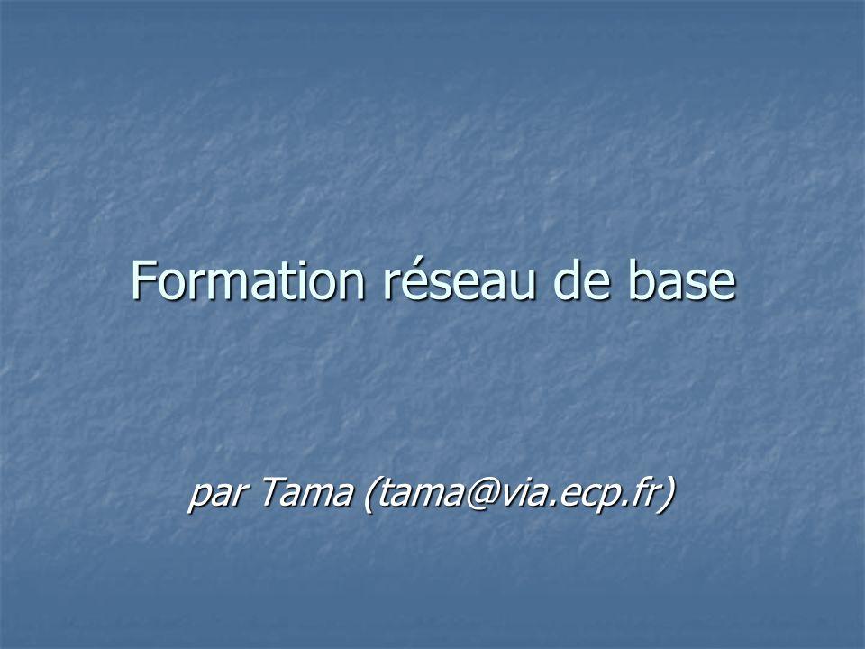 Formation réseau de base