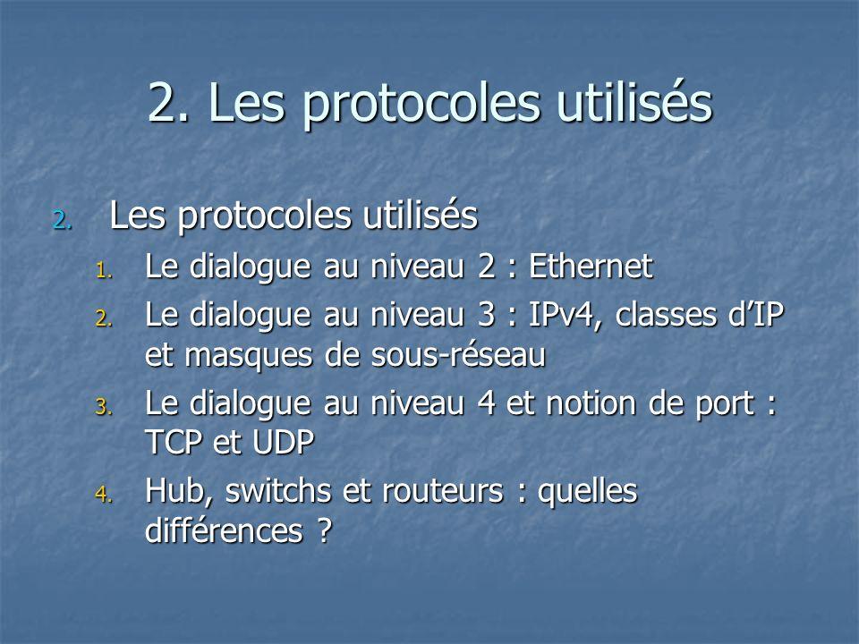 2. Les protocoles utilisés
