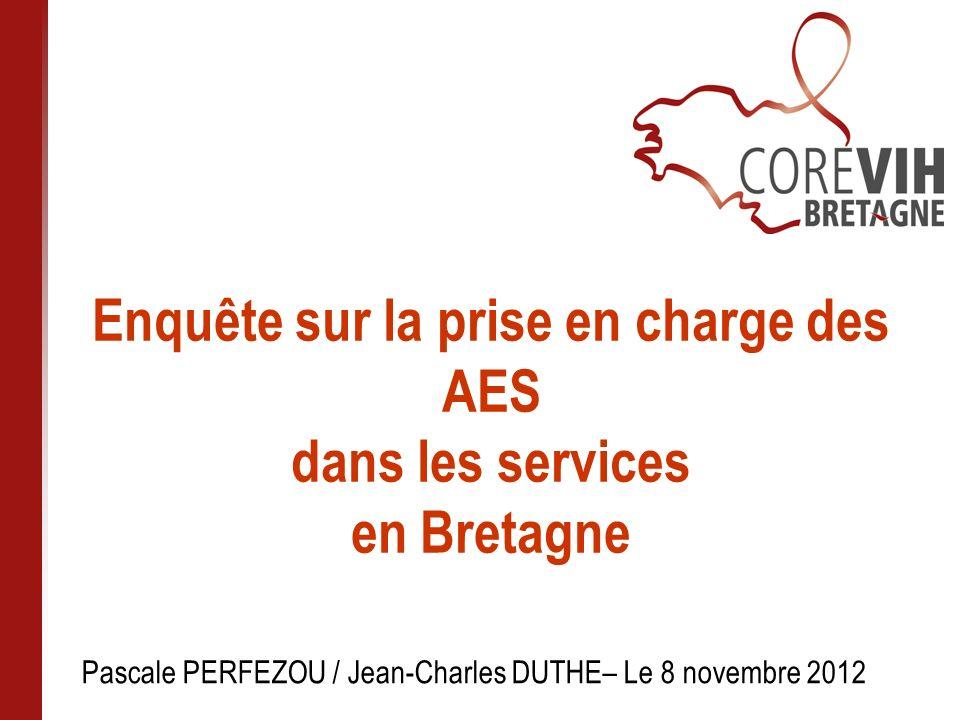 Enquête sur la prise en charge des AES dans les services en Bretagne
