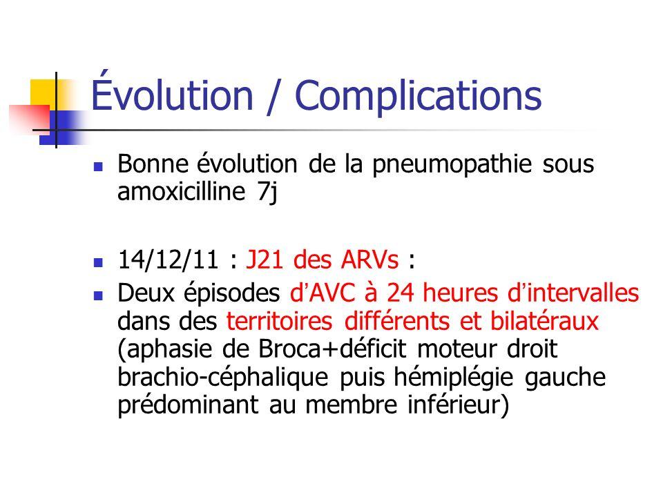 Évolution / Complications