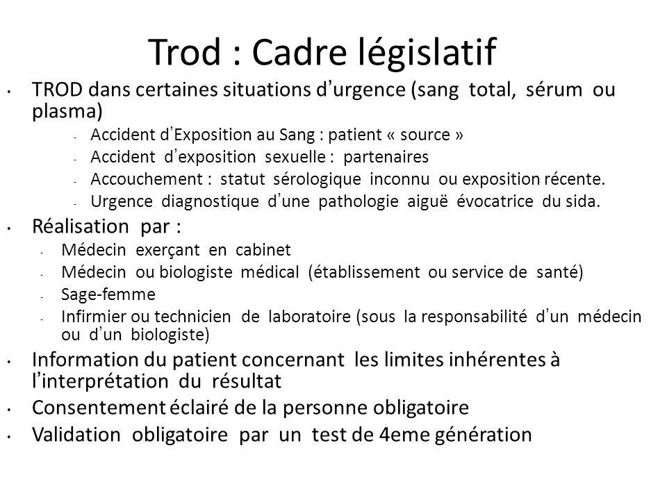 Trod : Cadre législatif