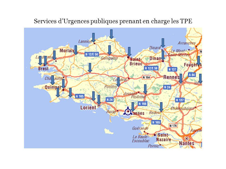 Services d'Urgences publiques prenant en charge les TPE