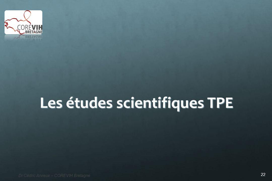 Les études scientifiques TPE