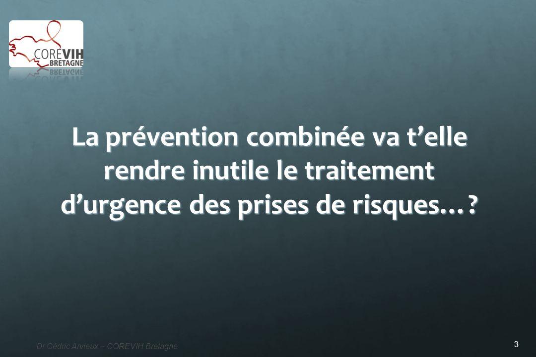 La prévention combinée va t'elle rendre inutile le traitement d'urgence des prises de risques…
